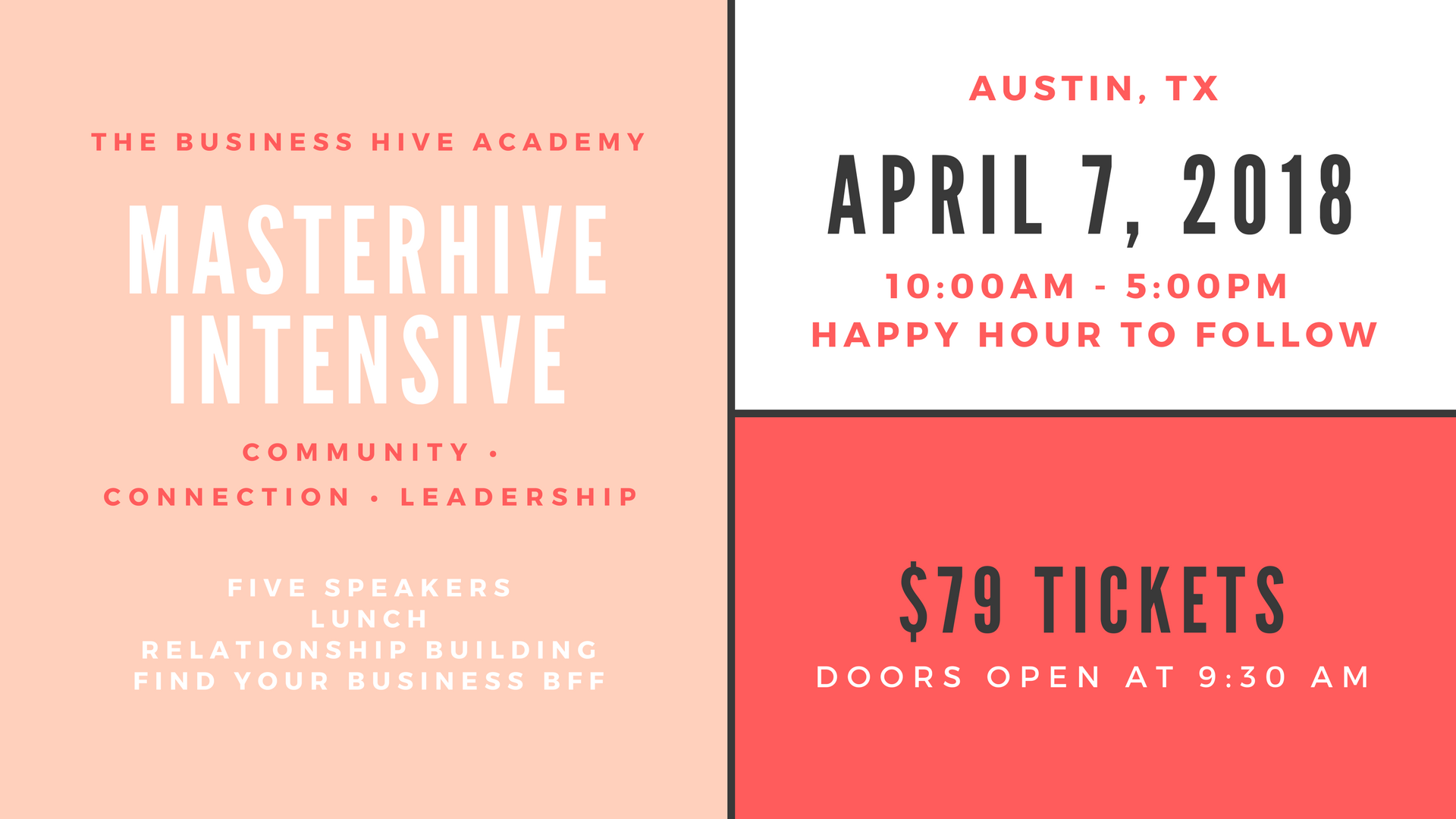 The official launch of The Business Hive Academy is April 7th!